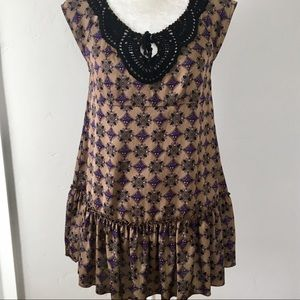 Free People Tunic With Crocheted Trim